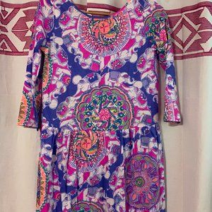 Lilly Pulitzer NWT Ella Dress Blue Haven Little Flamenco $52